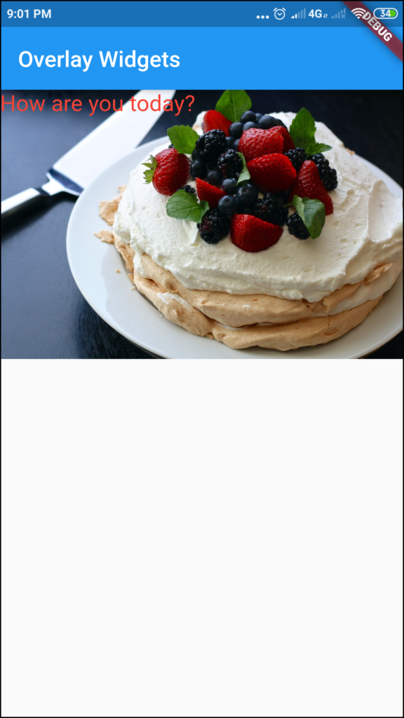 flutter Text on Image overlapping