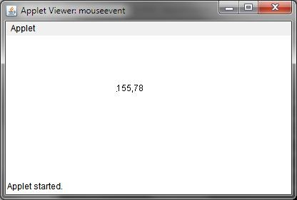 Get X, Y Coordinate at Mouse Clicked Location or Position in Java Applet or Frame