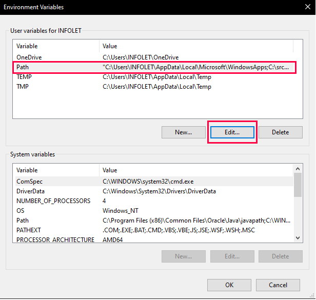 PHP is not recognized as an internal or external command in CMD