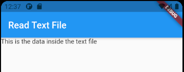 Flutter: Read Text File from Assets